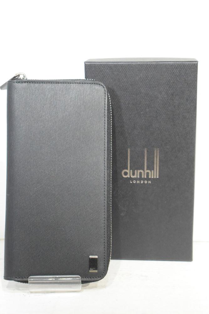 【中古】【美品】dunhill ダンヒル SIDECAR GUNMETAL サイドカーガンメタル ラウンドファスナー財布 L2B018A SG メンズ ハイブラ 万代Net店