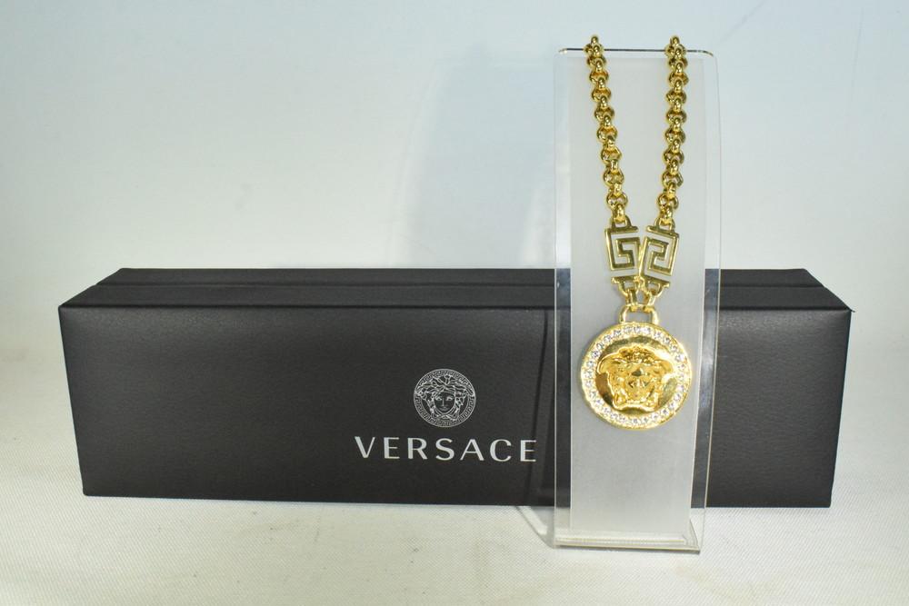 【中古】【美品】VERSACE ヴェルサーチェ メデューサ ネックレス メンズ ハイブラ 万代Net店