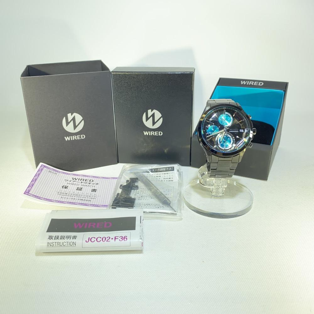 【中古】SEIKO セイコー WIRED ワイアード NEW REFLECTION ニューリフレクション 第4弾 CHRONOGRAPH MODEL クロノグラフモデル オールブラック AGAV121 メンズ 腕時計 万代Net店