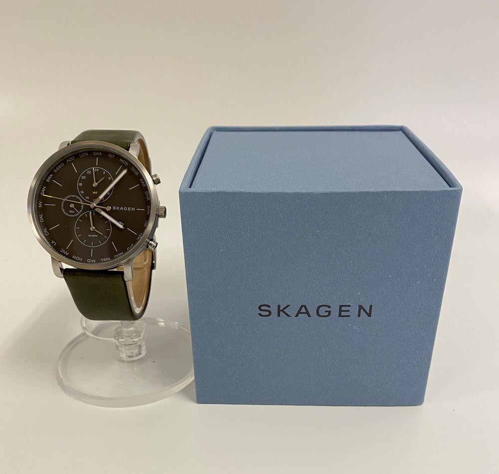 【中古】SKAGEN スカーゲン HAGEN WORLD TIME ハーゲンワールドタイム SKW6298 メンズ 時計 万代Net店