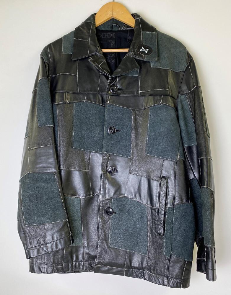 【中古】NEIGHBOR HOOD ネイバーフッド パッチワークレザージャケット TSNH-JK-02 サイズM メンズ ストリート 万代Net店