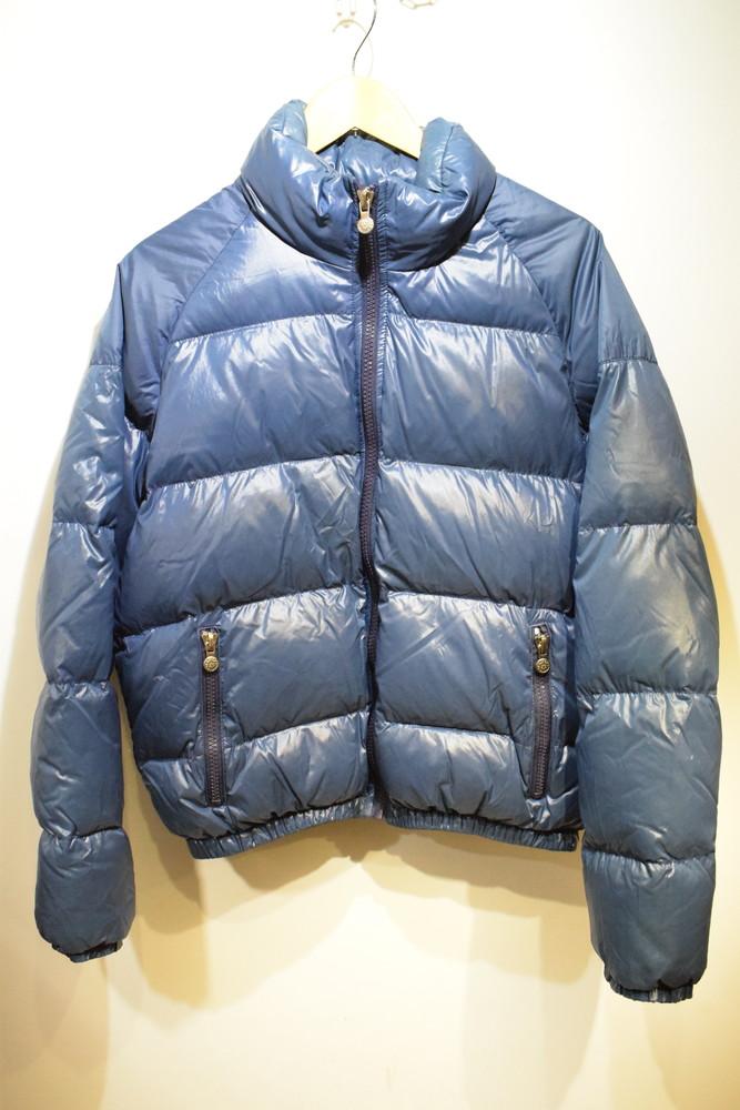 【中古】PYRENEX ピレネックス ダウンジャケット ブルー ワッペン サイズM メンズ インポート 万代Net店
