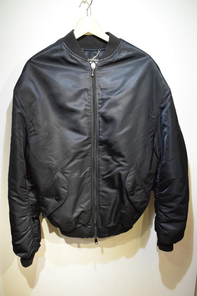 【中古】BALENCIAGA バレンシアガ SINNERS ロゴ ボンバージャケット ブルゾン ブラック サイズ46 メンズ SBその他 万代Net店