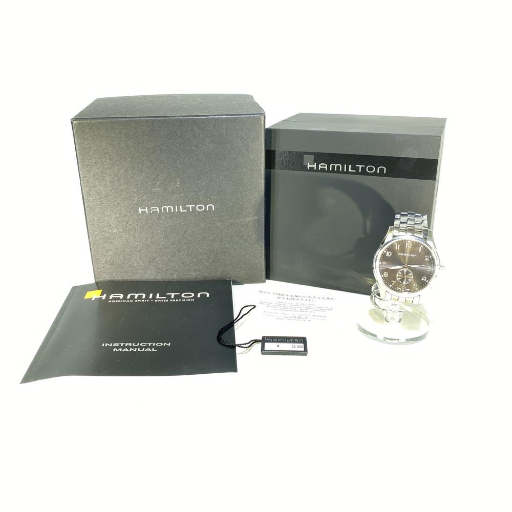 【中古】Hamilton ハミルトン ジャズマスターシンライン プチセコンド H38411183 メンズ 時計 万代Net店