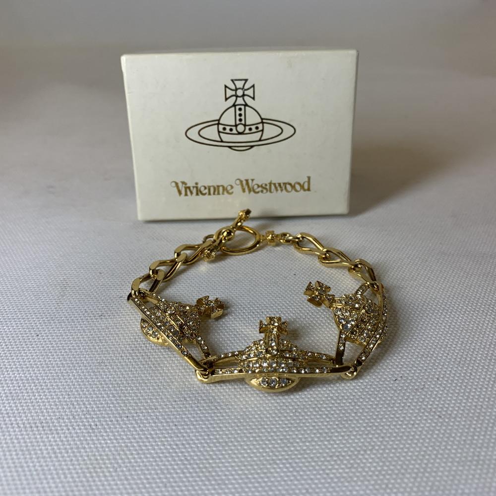 【中古】Vivienne Westwood ヴィヴィアン ウエストウッド 3連 オーブ ブレスレット レディース ハイブラ アクセサリー 万代Net店