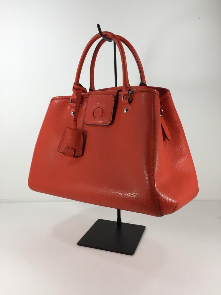 【中古】【レディース】COACH F34607 クロスグレーンレザースモールマーゴットキャリーオール ショルダーバッグ コーチ ハンドバッグ サイズ:約22×35.5×15.5cm カラー:RED