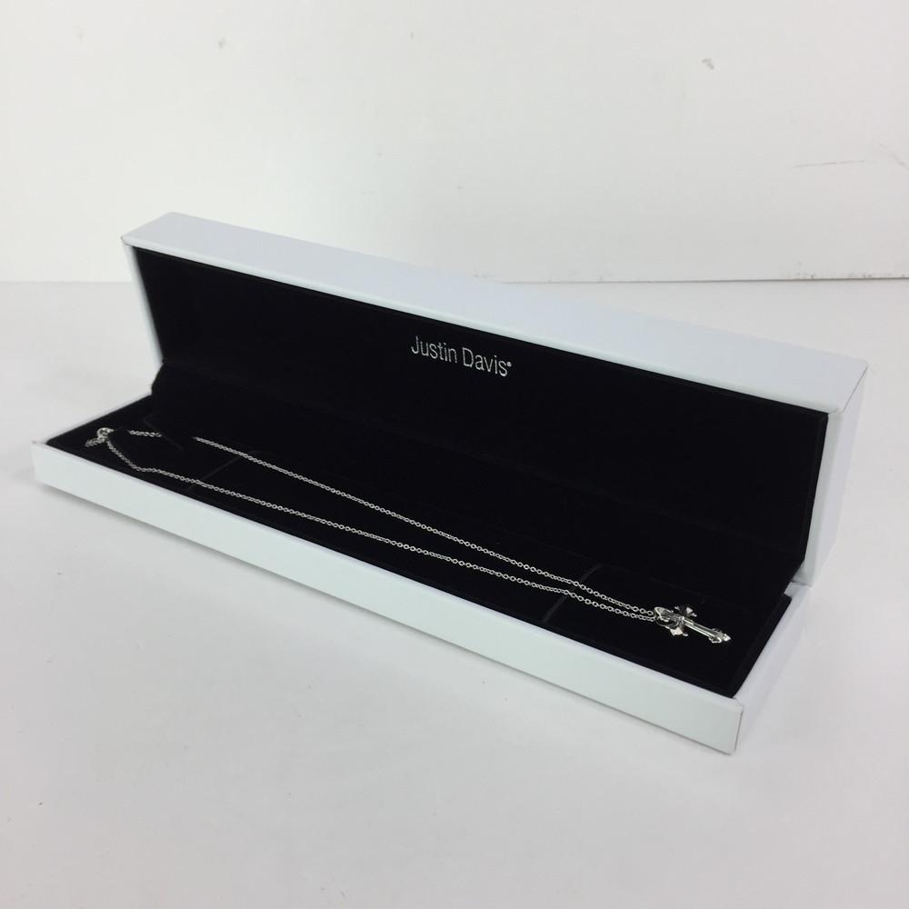 【中古】【メンズ】JUSTIN DAVIS SAINT DAVIS NECKLACE SNJ807 ジャスティンデイビス セイントデイビスネックレス アクセサリー サイズ:チェーン 約50cm トップ 約2×1.5cm カラー:SILVER 万代Net店