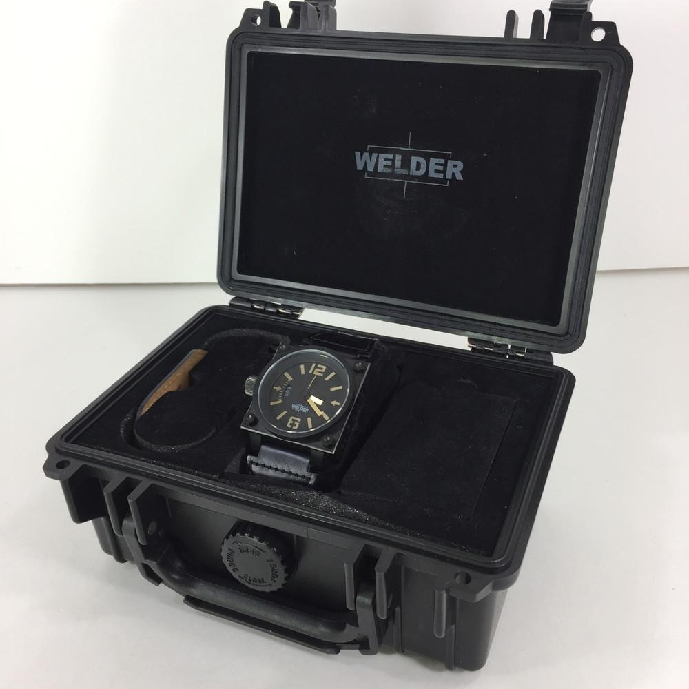 【中古】【メンズ】WELDER K-23 ウェルダー 腕時計 クォーツ サイズ:ケース径 約46mm 腕回り 最大約20.5cm カラー:BLACK 万代Net店