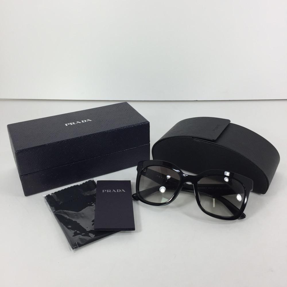 【中古】【レディース】PRADA 1AB-0A7 プラダ サングラス 眼鏡 アクセサリー サイズ:53ロ19 カラー:BLACK 万代Net店