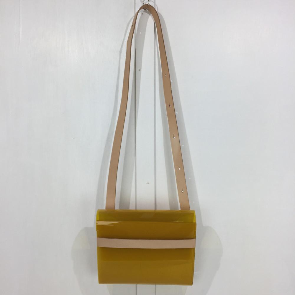 【中古】【メンズ/レディース】MACRO MAURO PVL BAG MEDIUM マクロマウロ ショルダーバッグ サイズ:約21×25×5cm カラー:YELLOW 万代Net店