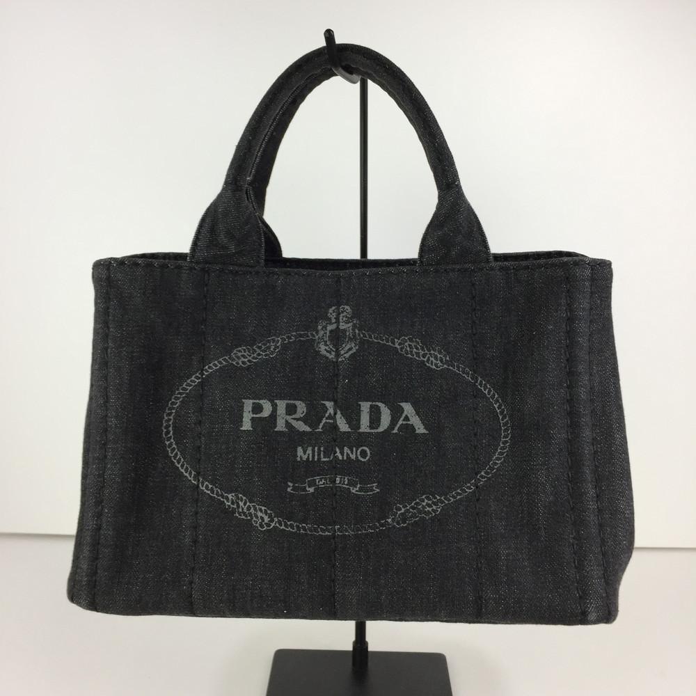 【中古】【レディース】PRADA CANAPA B2439G プラダ カナパ 2WAYバッグ トートバッグ ハンドバッグ サイズ:約18.5×29×16cm カラー:NERO 万代Net店
