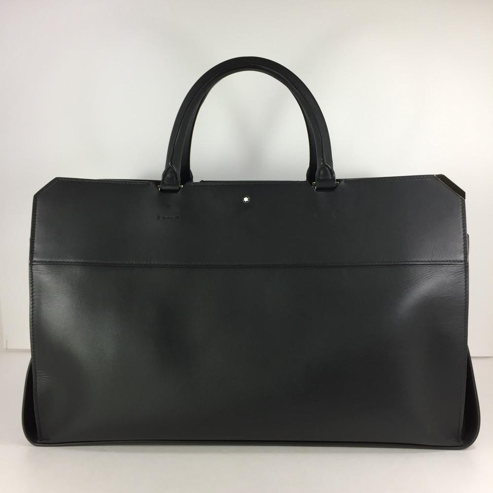 【中古】【メンズ】MONT BLANC BOSTON BAG モンブラン ボストンバッグ カバン サイズ:約29×48×20.5cm カラー:BLACK 万代Net店