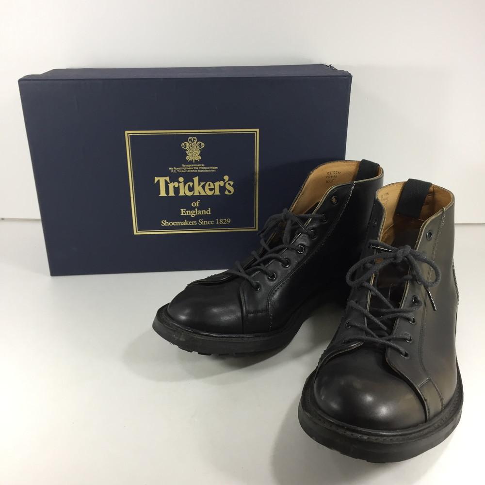 【スーパーセール限定!20%OFF~】【中古】【メンズ】Tricker's × VICTIM MONKEY BOOTS M7421 トリッカーズ ビクティム 別注 コラボ モンキーブーツ サイズ:UK 10 カラー:BLACK 万代Net店