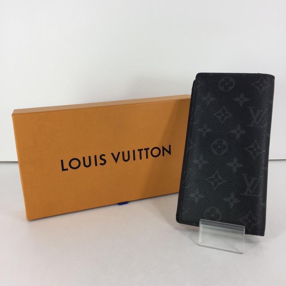 【中古】【メンズ】LOUIS VUITTON モノグラム エクリプス ポルトフォイユ ブラザ M61697 ルイ ヴィトン 長財布 ウォレット サイズ:約19×9.5×2cm カラー:モノグラム・エクリプス 万代Net店