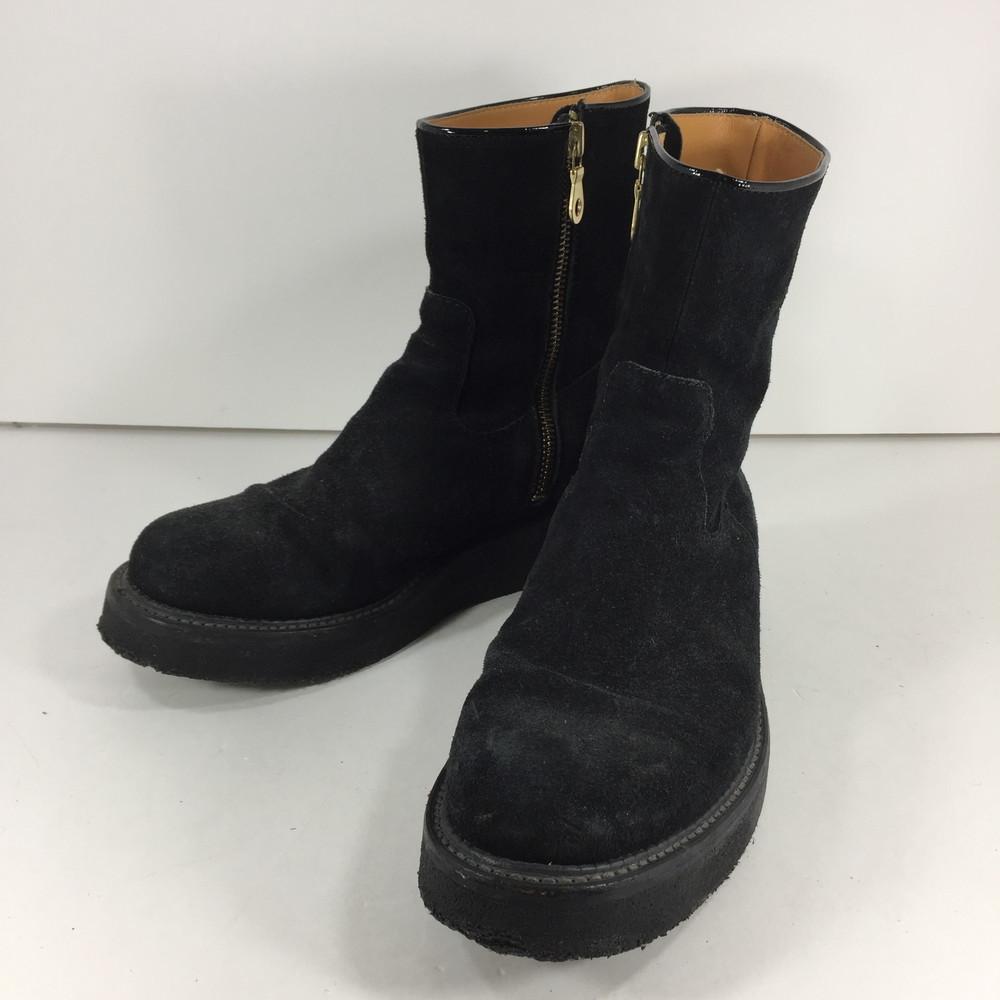 【中古】【メンズ】KIDSLOVEGAITE SIDEZIP RUBBERSOLE BOOTS 0061 キッズラブゲイト サイドジップ ラバーソール ブーツ スウェードブーツ サイズ:8 カラー:BLACK 万代Net店