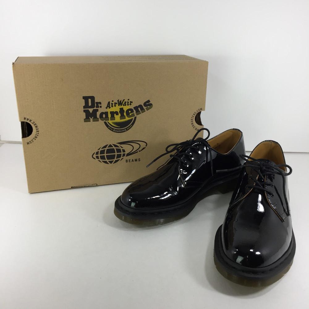 【中古】【メンズ】Dr.Martens × BEAMS 別注 1461 パテント 3ホールドクターマーチン ビームス コラボ 革靴 サイズ:UK 9 カラー:BLACK 万代Net店