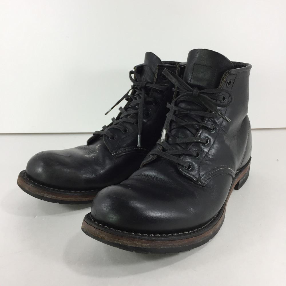 【中古】【メンズ】RED WING BECKMAN ROUND 9014 レッドウイング ベックマン ラウンド ブーツ サイズ:26cm US 8D カラー:BLACK 万代Net店