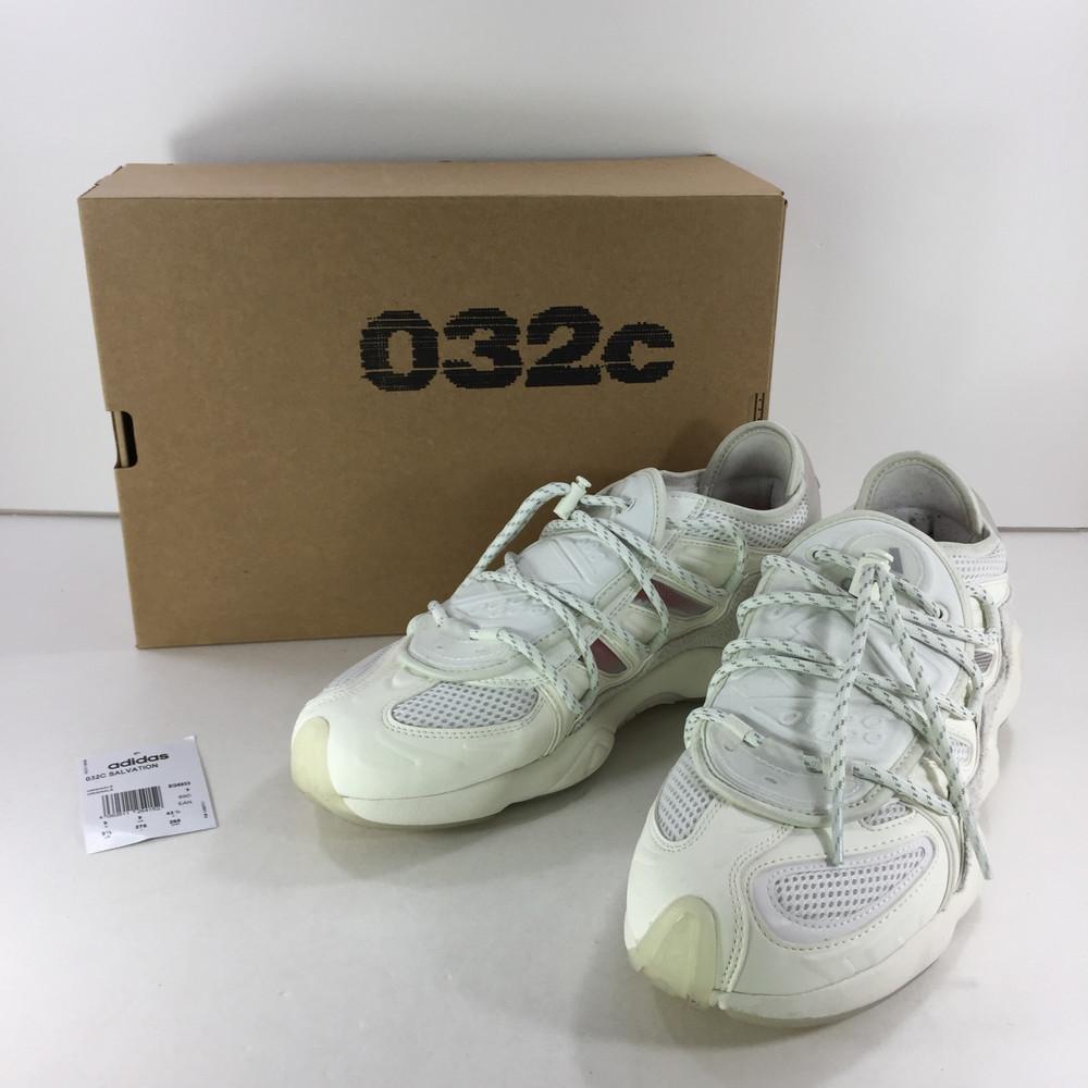 【中古】【メンズ】adidas × 032C SALVATION EG5933 アディダス ゼロスリーツー 別注 コラボ サルべーション スニーカー サイズ:US 9 1/2 27.5cm カラー:CWHITE 万代Net店