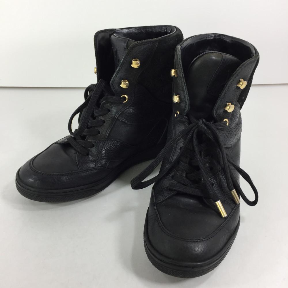 【中古】【レディース】 LOUIS VUITTON クリフトップ ラインインヒール スニーカー GO0124 ルイ・ヴイトン 靴 サイズ:35 1/2 カラー:ノワール 万代Net店