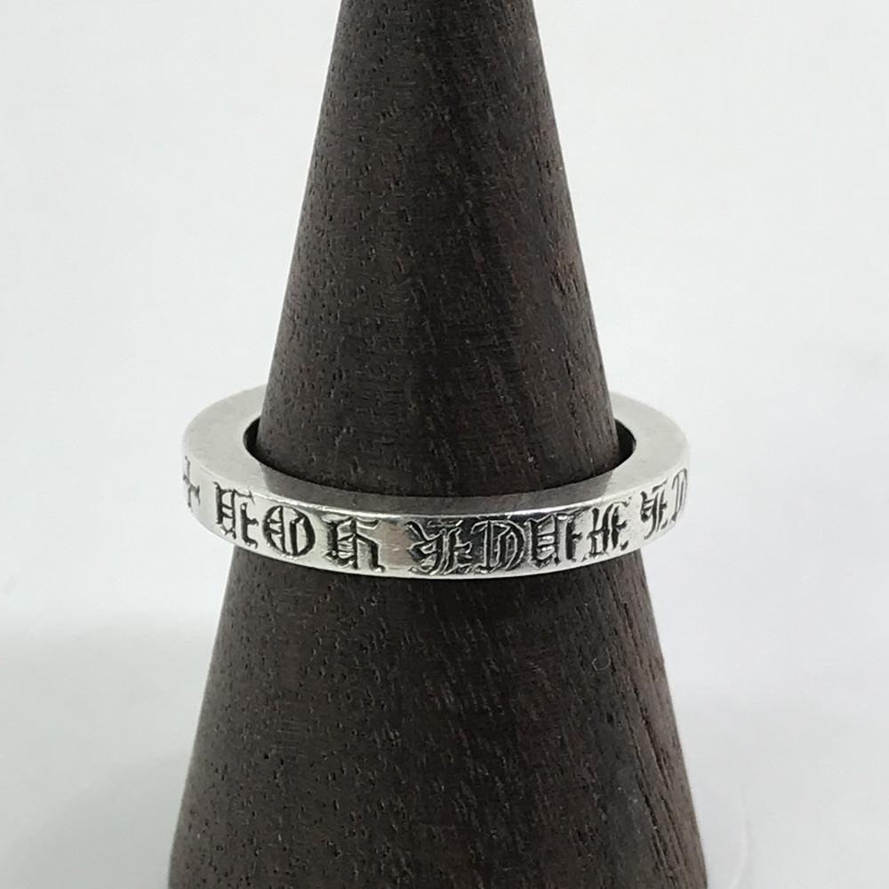 【中古】【メンズ】CHROME HEARTS RING SPACER 3mm FUCK クロムハーツ スペーサーリング ファック アクセサリー 指輪 サイズ:20号 カラー:SILVER 万代Net店