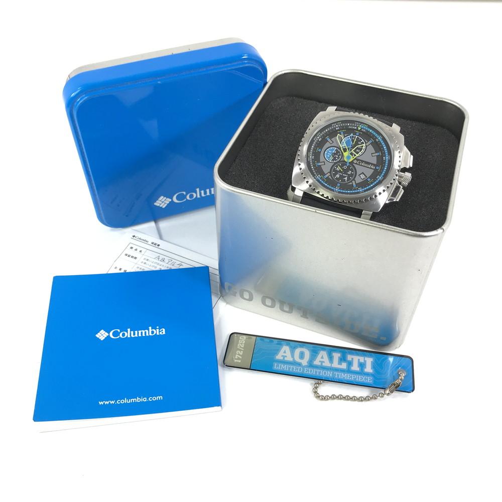 【中古】【メンズ】Columbia AQ アルティ スクエア アナログ マルチファンクション CA10007 コロンビア 腕時計 サイズ:ケース径 約44mm 腕回り 最大約20cm カラー:BLACK 万代Net店