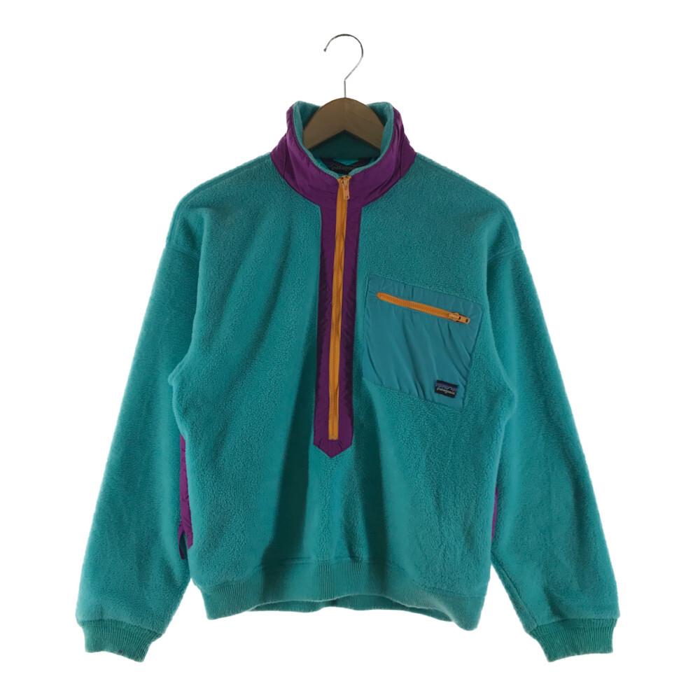 デポー 中古 キッズ Patagonia Seasonal Wrap入荷 パタゴニア 80's-90's 25359 ボア フリースジャケット 80年代-90年代 万代Net店 古着 アウター カラー:ライトブルー サイズ:10