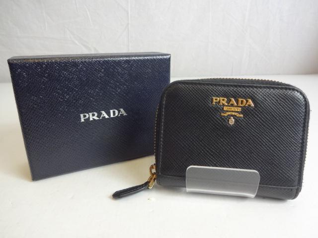 【中古】 PRADA プラダ コインケース Saffiano Metal サフィアーノ 1MM268 Nero 送料無料