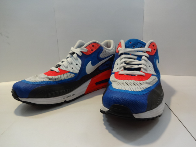 NIKE Nike AIR MAX LUNAR 90 C3.0 blue orange white black 270,000s Net shop