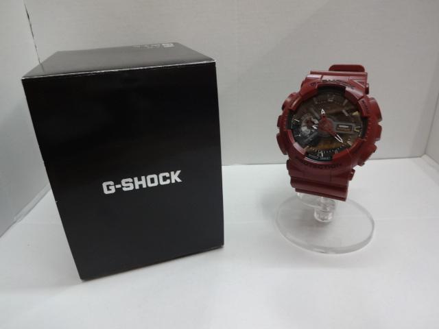 【中古】CASIO カシオ G-SHOCK Gショック GA-110EW-4AJF アナログ デジタル メンズ 腕時計 時計 赤 ボルドー送料無料