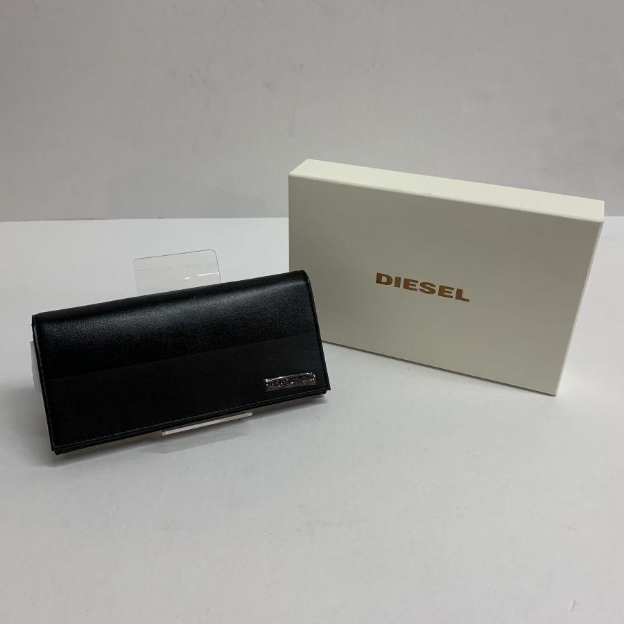 【美中古品】【メンズ】DIESEL ディーゼル BLOKIN'2 LEATHER 財布 カラー:BLACK 万代Net店