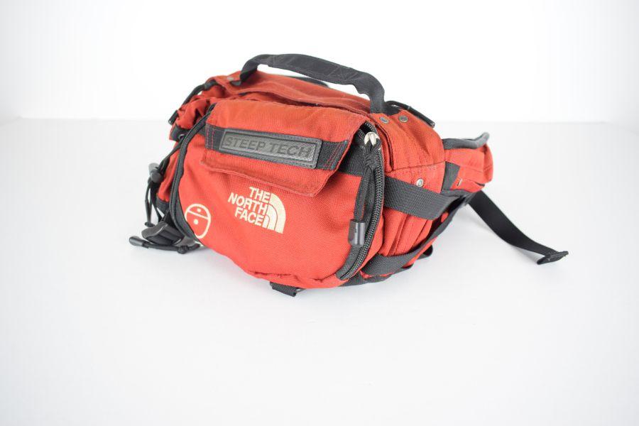 【中古】【メンズ】THE NORTH FACE ノースフェイス 90s STEEP TECH WAIST BAG スティープ テック ウエストバッグ カバン カラー:RED 万代Net店