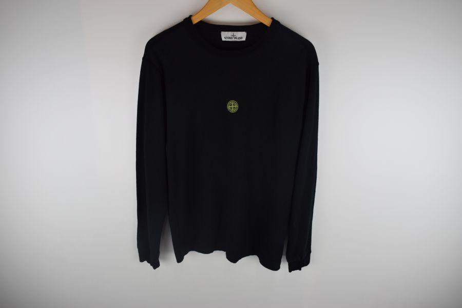 【中古】【メンズ】STONE ISLAND ストーンアイランド 19AW Long Sleeve Graphic Five Tee 長袖 グラフィックファイブTシャツ Tシャツ サイズ:S カラー:BLACK 万代Net店