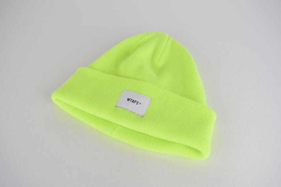【中古】【メンズ】WTAPS ダブルタップス 19AW BEANIE 02 ビーニー ニット帽 サイズ:F カラー:LIGHT YELLOW 万代Net店
