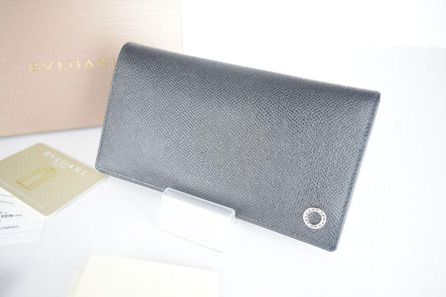 【美中古品】【メンズ】BVLGARI ブルガリ 長財布 財布 カラー:BLACK 型番:30398 万代Net店