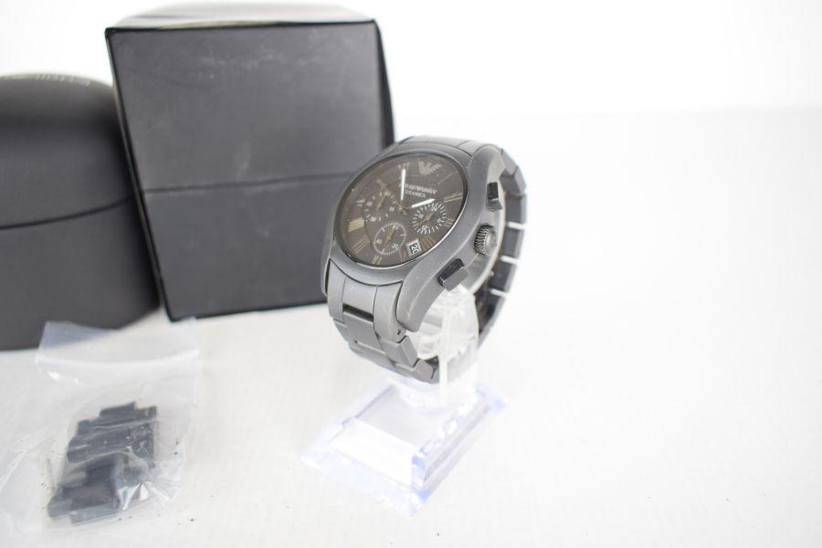 【中古】【メンズ】EMPORIO ARMANI エンポリオアルマーニ AR-1457 腕時計 カラー:BLACK 万代Net店