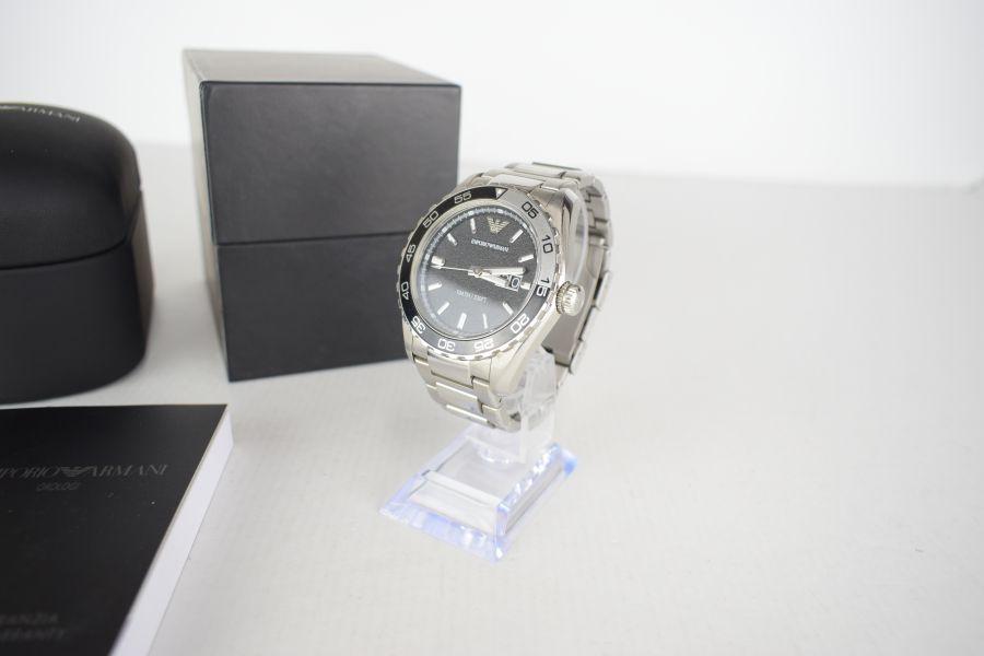 【中古】【メンズ】EMPORIO ARMANI エンポリオアルマーニ AR-6047 腕時計 カラー:SILVER 万代Net店