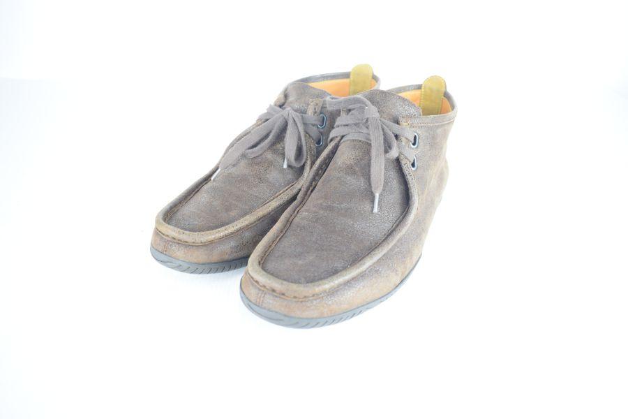 【中古】【メンズ レディース】HERMES エルメス ワラビーブーツ ブーツ サイズ:41 カラー:BROWN 万代Net店