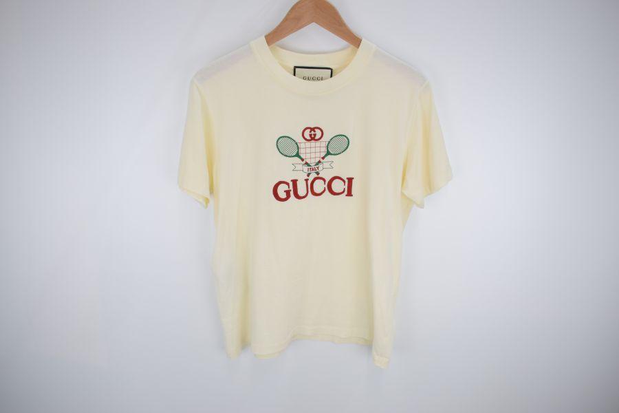 【中古】【メンズ】GUCCI グッチ テニス オーバーサイズ Tシャツ Tシャツ サイズ:S カラー:WHITE 万代Net店