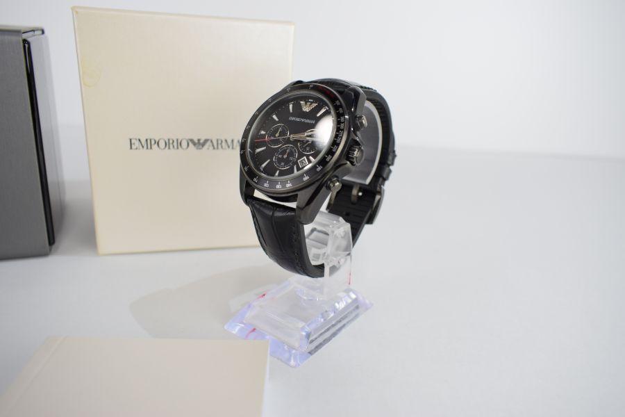【中古】【メンズ】EMPORIO ARMANI エンポリオアルマーニ AR-6097 ブラックダイアル 腕時計 カラー:BLACK 万代Net店