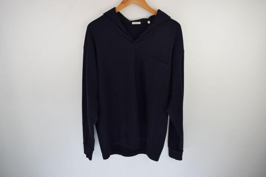 【中古】【メンズ】COMOLI コモリ 2017AW 裏毛起毛スキッパーシャツ シャツ サイズ:2 カラー:NAVY 万代Net店