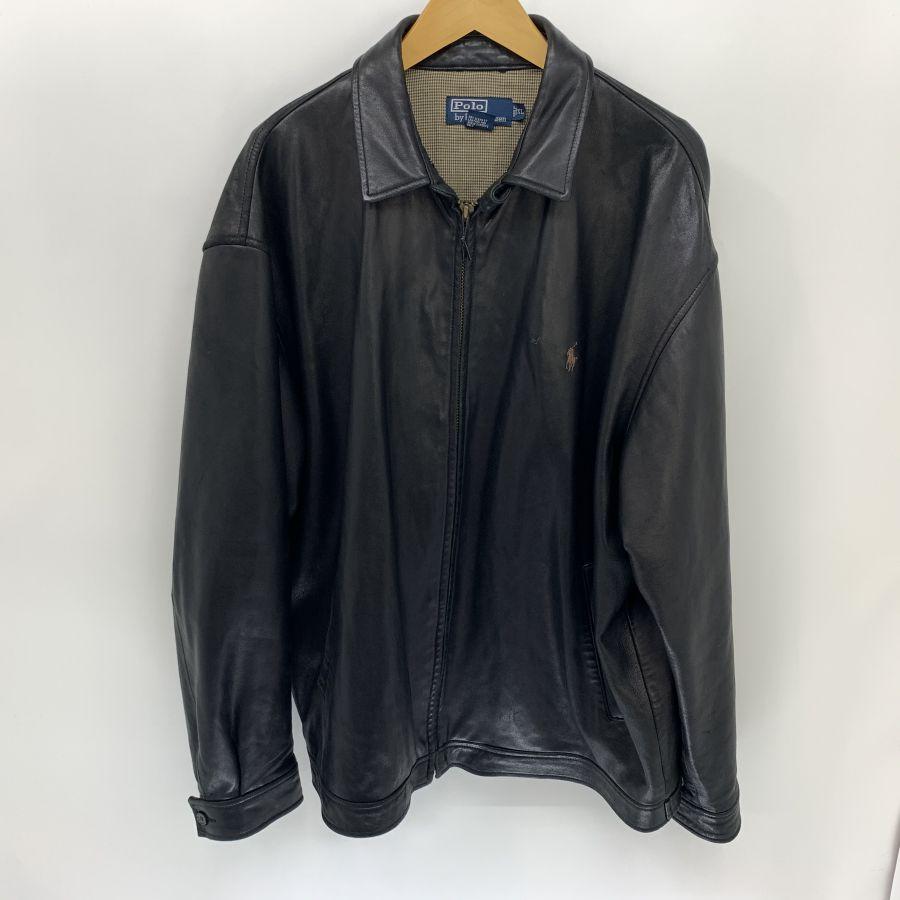 【中古】【メンズ】RALPH LAUREN ラルフローレン レザージャケット ジャケット サイズ:XL カラー:BLACK 万代Net店