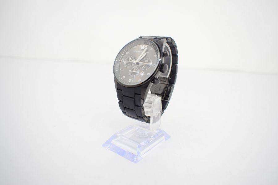 【中古】【メンズ】EMPORIO ARMANI エンポリオアルマーニ AR-5889 腕時計 カラー:BLACK 万代Net店