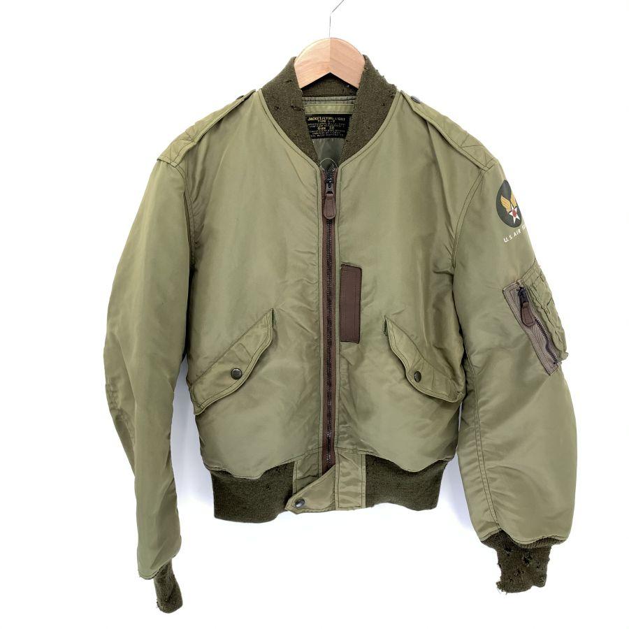 【中古】【メンズ】THE REAL McCOYS リアルマッコイズ L-2 FLIGHT JACKET フライトジャケット ジャケット サイズ:38 カラー:OLIVE 万代Net店