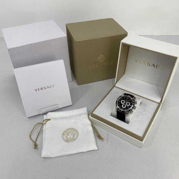 【美中古品】【メンズ レディース】VERSACE ヴェルサーチ V-RAY 腕時計 カラー:BLACK 型番:VEDB00118 万代Net店