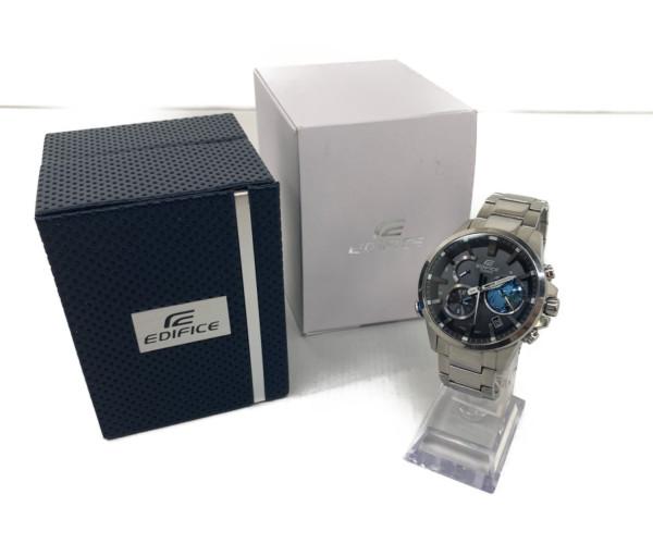 【中古】【メンズ】EDIFICE エディフィス EQB-600 腕時計 カラー:SILVER 万代Net店