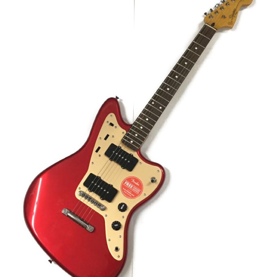【中古】Squier DELUXE JAZZMASTER ST エレキギター レッドカラー スクワイヤー 楽器 万代Net店