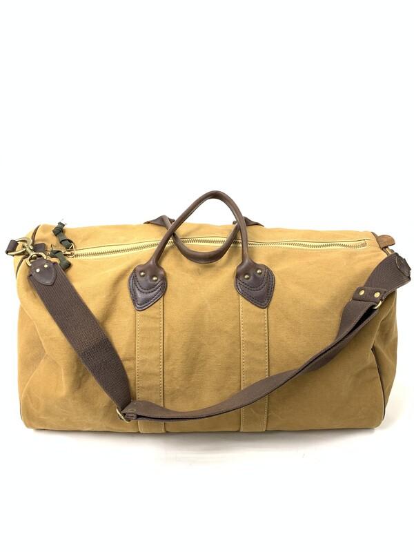 【中古】【メンズ】SLOW スロウ Canvas Leather Boston Bag キャンバスレザー ボストンバッグ カラー:ベージュ 万代Net店