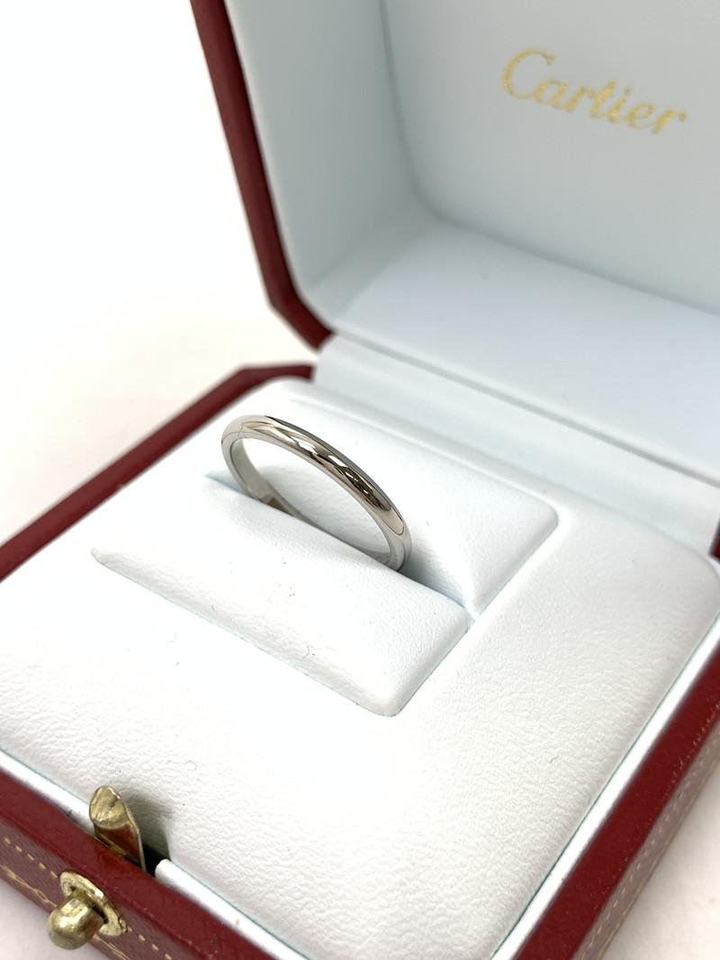 【美中古品】【レディース】Cartier カルティエ 1895 WEDDING BAND (PT950) ウェディング バンド 指輪 リング サイズ:51(約11号)/約2.5g カラー:シルバー 型番:B4078000 万代Net店