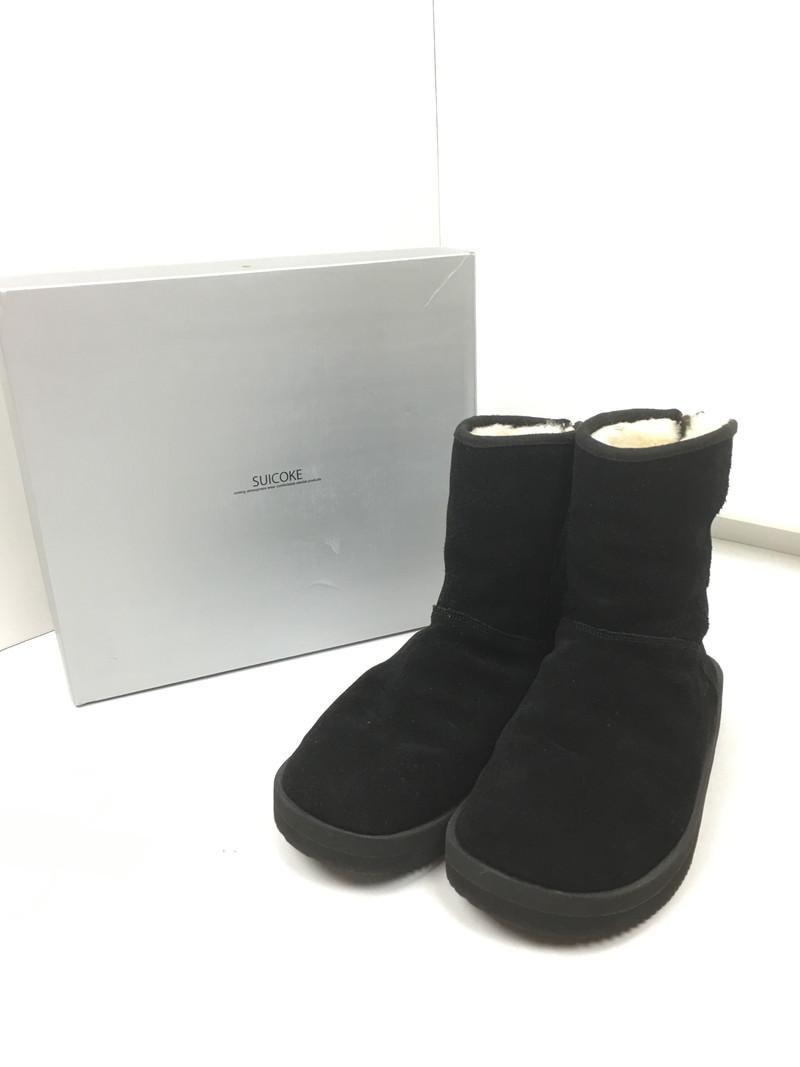 【スーパーセール限定!10%OFF~】【中古】【メンズ】SUICOKE スイコック MOUTON BOOTS ムートンブーツ ボア ブーツ サイズ:US8(26.0cm) カラー:ブラック 万代Net店
