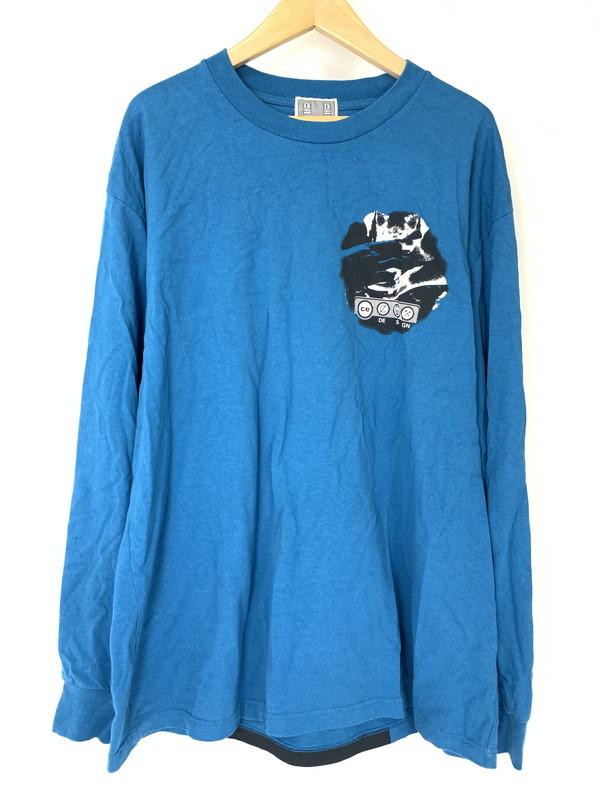 【中古】【メンズ】C.E (cav empty) シーイー(キャブエンプティ) 18AW CE DE SI GN Long Sleeve Tee ロングスリーブ T ロンT 長袖 サイズ:XL カラー:ブルー 万代Net店